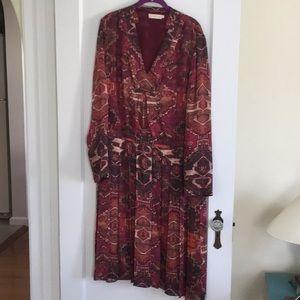 Tory Burch silk tunic dress size 14